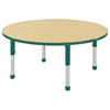 "ECR4Kids 48"" Round Table Maple/Green-Chunky"