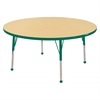 "48"" Round T-Mold Activity Table, Maple/Green/Standard Ball"