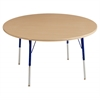 "48"" Round T-Mold Activity Table, Maple/Maple/Blue/Standard Swivel"