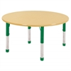 "48"" Round T-Mold Activity Table, Maple/Maple/Green/Chunky"