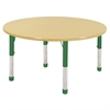 "ECR4Kids 48"" Round Maple/Maple/Green Chunky"