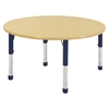 "ECR4Kids 48"" Round Maple/Maple/Navy Chunky"
