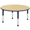 "ECR4Kids 48"" Round Table Maple/Navy -Chunky"