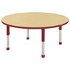 "48"" Round Table Maple/Red -Chunky"