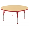 "48"" Round T-Mold Activity Table, Maple/Red/Toddler Ball"