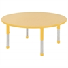 "48"" Round T-Mold Activity Table, Maple/Yellow/Chunky"