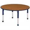 "48"" Round T-Mold Activity Table, Oak/Navy/Chunky"