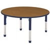 "48"" Round Table Oak/Navy-Chunky"