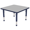 "ECR4Kids 30"" Square Table Grey/Navy-Chunky"