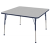 "ECR4Kids 30"" Square Table Grey/Navy-Standard Ball"