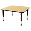 "30"" Square T-Mold Activity Table, Maple/Black/Chunky"