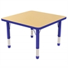 "30"" Square T-Mold Activity Table, Maple/Blue/Chunky"