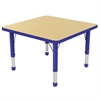 "ECR4Kids 30"" Square Table Maple/Blue -Chunky"