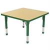 "ECR4Kids 30"" Square Table Maple/Green-Chunky"