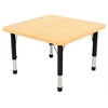"30"" Square T-Mold Activity Table, Maple/Maple/Black/Chunky"