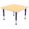 "30"" Square T-Mold Activity Table, Maple/Maple/Blue/Chunky"