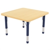 "ECR4Kids 30"" Square Maple/Maple/Navy Chunky"