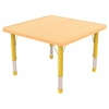 "30"" Square T-Mold Activity Table, Maple/Maple/Yellow/Chunky"