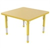 "ECR4Kids 30"" Square Table Maple/Yellow-Chunky"