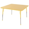 "30"" Square T-Mold Activity Table, Maple/Yellow/Standard Ball"
