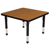 "ECR4Kids 30"" Square Table Oak/Black-Chunky"