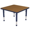 "30"" Square Table Oak/Navy-Chunky"