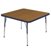 "ECR4Kids 30"" Square Table Oak/Navy-Standard Ball"