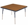 "ECR4Kids 30"" Square Table Oak/Navy-Standard Swivel"
