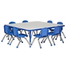 "ECR4Kids 48"" Square Table Grey/Blue-Toddler Ball"