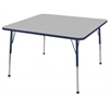 "ECR4Kids 48"" Square Table Grey/Navy-Standard Ball"