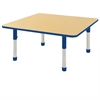 "48"" Square T-Mold Activity Table, Maple/Blue/Chunky"