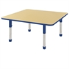 """48"""" Square Table Maple/Blue -Chunky"""