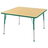"48"" Square T-Mold Activity Table, Maple/Green/Toddler Ball"