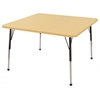 "48"" Square T-Mold Activity Table, Maple/Maple/Black/Standard Ball"