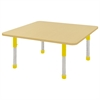 "ECR4Kids 48"" Square Maple/Maple/Yellow Chunky"