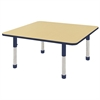 "48"" Square Table Maple/Navy -Chunky"