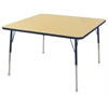 "ECR4Kids 48"" Square Table Maple/Navy -Standard Swivel"