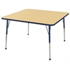 "48"" Square T-Mold Activity Table, Maple/Navy/Toddler Ball"