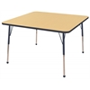 "ECR4Kids 48"" Square Table Maple/Navy -Toddler Ball"