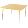 "48"" Square T-Mold Activity Table, Maple/Yellow/Toddler Ball"