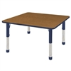 "ECR4Kids 48"" Square Table Oak/Navy-Chunky"