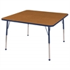"48"" Square T-Mold Activity Table, Oak/Navy/Toddler Ball"