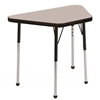 "18""x30"" Trapezoid T-Mold Activity Table, Grey/Black/Standard Ball"