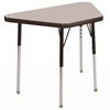 "18""x30"" Trapezoid T-Mold Activity Table, Grey/Black/Standard Swivel"