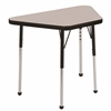 "18""x30"" Trapezoid T-Mold Activity Table, Grey/Black/Toddler Ball"