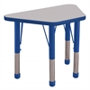"ECR4Kids 18x30"" Trap Table Grey/Blue-Toddler Chunky"