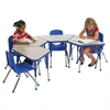 "ECR4Kids 18x30"" Trap Table Grey/Blue-Toddler Ball"