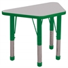 "18""x30"" Trapezoid T-Mold Activity Table, Grey/Green/Chunky"