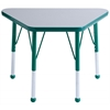 "ECR4Kids 18x30"" Trap Table Grey/Green-Standard Ball"
