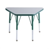 "ECR4Kids 18x30"" Trap Table Grey/Green-Toddler Swivel"